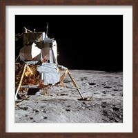 View of the Apollo 14 Lunar Module on the Moon Fine-Art Print