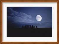 Composite of the Moon over Stonehenge, Wiltshire, England Fine-Art Print