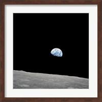 Earth Rising Above the Lunar Horizon Fine-Art Print