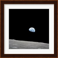 Earth Rising Above the Lunar Horizon Fine-Art Print