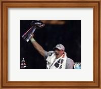 Rob Gronkowski with the Vince Lombardi Trophy Super Bowl XLIX Fine-Art Print