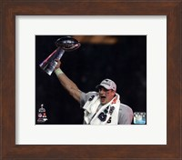 Rob Gronkowski with the Vince Lombardi Trophy Super Bowl XLIX Fine-Art Print