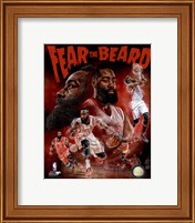 James Harden Fear the Beard Portrait Plus Fine-Art Print