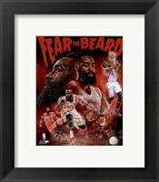 James Harden Fear the Beard Portrait Plus Fine-Art Print