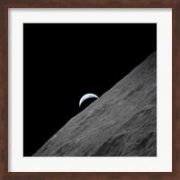 The crescent Earth Rises above the Lunar Horizon Fine-Art Print