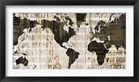 Crate World Map Neutral Fine-Art Print