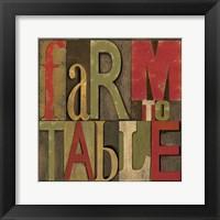 Printers Block Farm To Table I Fine-Art Print
