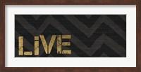 Chevron Sentiments Black/Gold Panel I Fine-Art Print