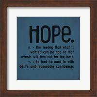 Definitions-Hope III Fine-Art Print