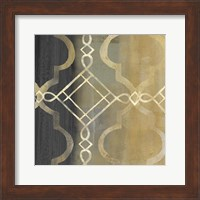 Abstract Waves Black/Gold Tiles IV Fine-Art Print