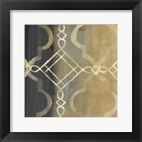 Abstract Waves Black/Gold Tiles IV Fine-Art Print