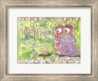 Pastel Owl Family 3 Imagination Will Take You Everywhere Fine-Art Print