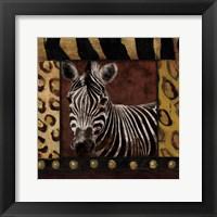 Zebra With Border Fine-Art Print