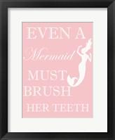 Mermaid Must Brush Fine-Art Print