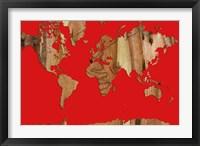 Wood Bark World Map 1 Fine-Art Print