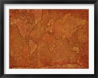 World Map Rust 1 Fine-Art Print