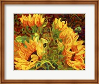 Four Sunflowers Fine-Art Print