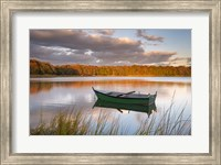 Green Boat on Salt Pond Fine-Art Print