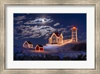 Moon Over Nubble Fine-Art Print