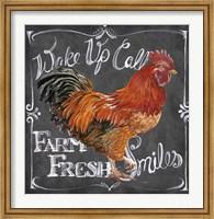Rooster on Chalkboard II Fine-Art Print