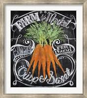 Chalkboard Carrots Fine-Art Print