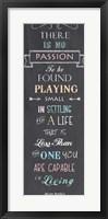 Passion - Nelson Mandela Quote Fine-Art Print