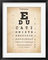 Nelson Mandela Eye Chart I Fine-Art Print