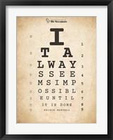 Nelson Mandela Eye Chart II Fine-Art Print