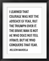 Courage - Nelson Mandela Quote Fine-Art Print