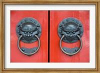 Pair of Door Knockers, Buddha Tooth Relic Temple, Singapore Fine-Art Print