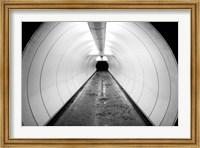 Singapore, Illuminated Pedestrian Tunnel, Paths Fine-Art Print