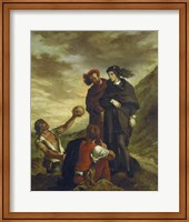 Hamlet and Horatio in the Cemetery, 1839 Fine-Art Print