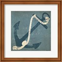 Nautical Anchor Blue Fine-Art Print