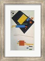 Suprematist painting (with black trapezium and red square), 1915 Fine-Art Print