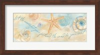 Watercolor Shell Sentiment Panel I Fine-Art Print