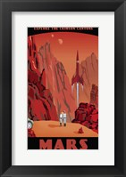Crimson Canyons Of Mars Fine-Art Print
