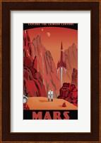 Crimson Canyons Of Mars Fine-Art Print