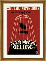 Social Networkingred Fine-Art Print