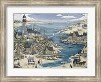 Lost Bay Lighthouse & Fishing Village Fine-Art Print