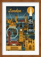 London Evening Ferris Wheel Fine-Art Print