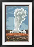Old Faithful Yellowstone Park Ad Fine-Art Print
