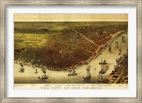 New Orleans & Mississippi River Map Fine-Art Print