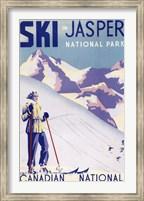 Ski In Jasper Canadian National Fine-Art Print