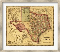 Map of Texas Fine-Art Print