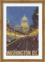 Washington DC Capitol Building Ad Fine-Art Print