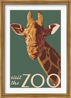 Visite The Zoo Giraffe Fine-Art Print