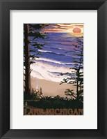 Lake Michigan Beach Ad Fine-Art Print