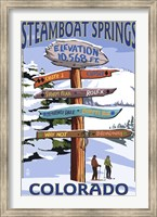Steamboat Springs Colorado Signs Fine-Art Print