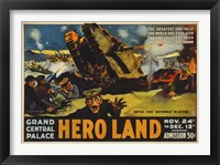 Hero Land, WWI Movie Poster Fine-Art Print
