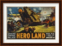 Hero Land, WWI Movie Poster Fine-Art Print